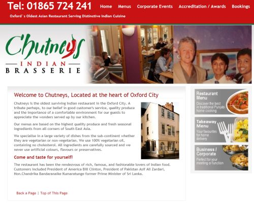 Chutneys Oxford Screenshot