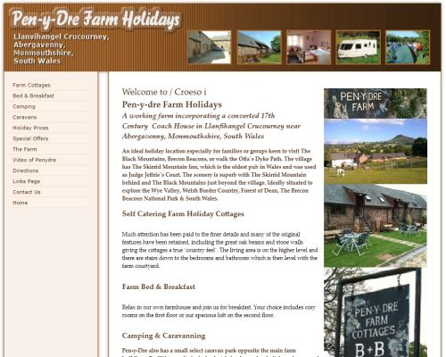 Penydre Holiday Cottages Screenshot