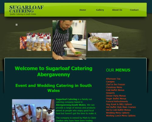 Sugarloaf Catering Screenshot